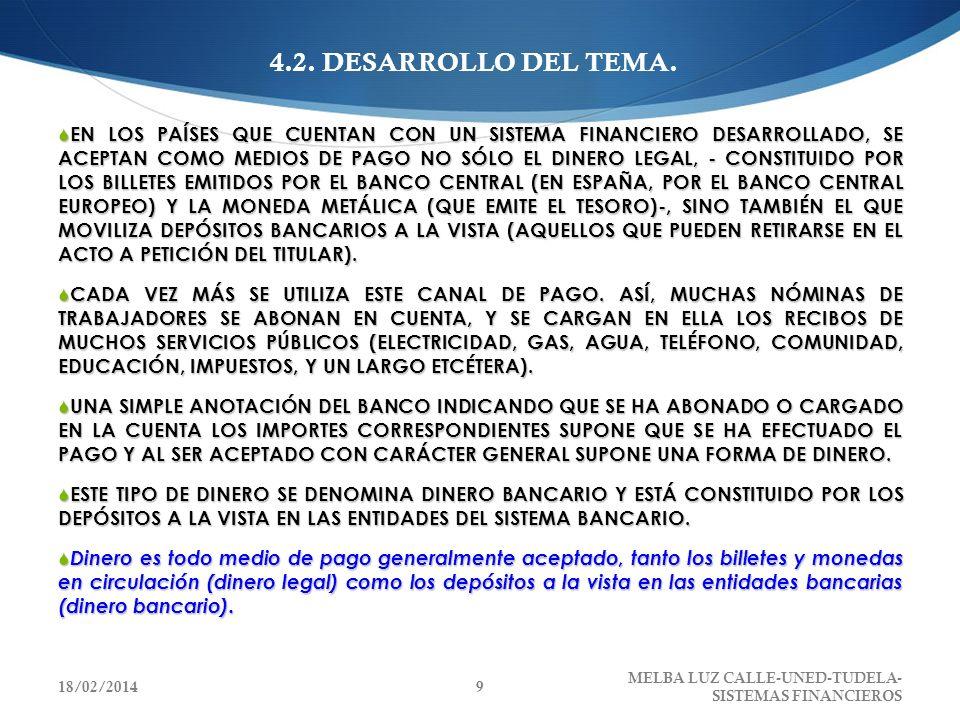 4.2.2.EL PROCESO DE CREACIÓN DE DINERO Y LAS MAGNITUDES MONETARIAS 4.2.2.1.