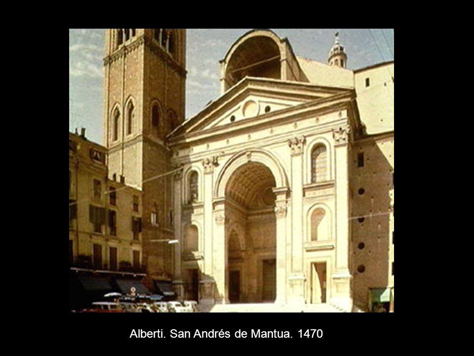 Alberti. San Andrés de Mantua. 1470