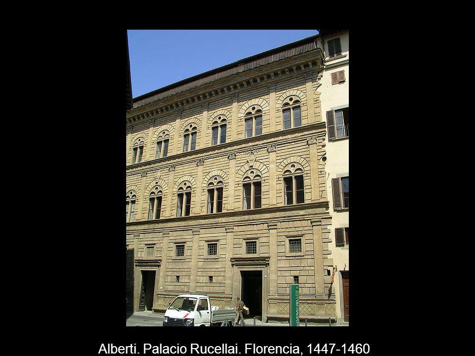 Alberti. Palacio Rucellai. Florencia, 1447-1460