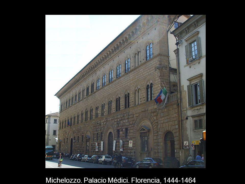 Michelozzo. Palacio Médici. Florencia, 1444-1464