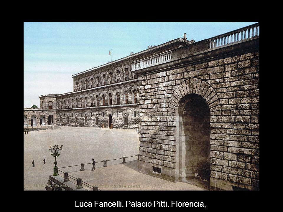 Luca Fancelli. Palacio Pitti. Florencia,
