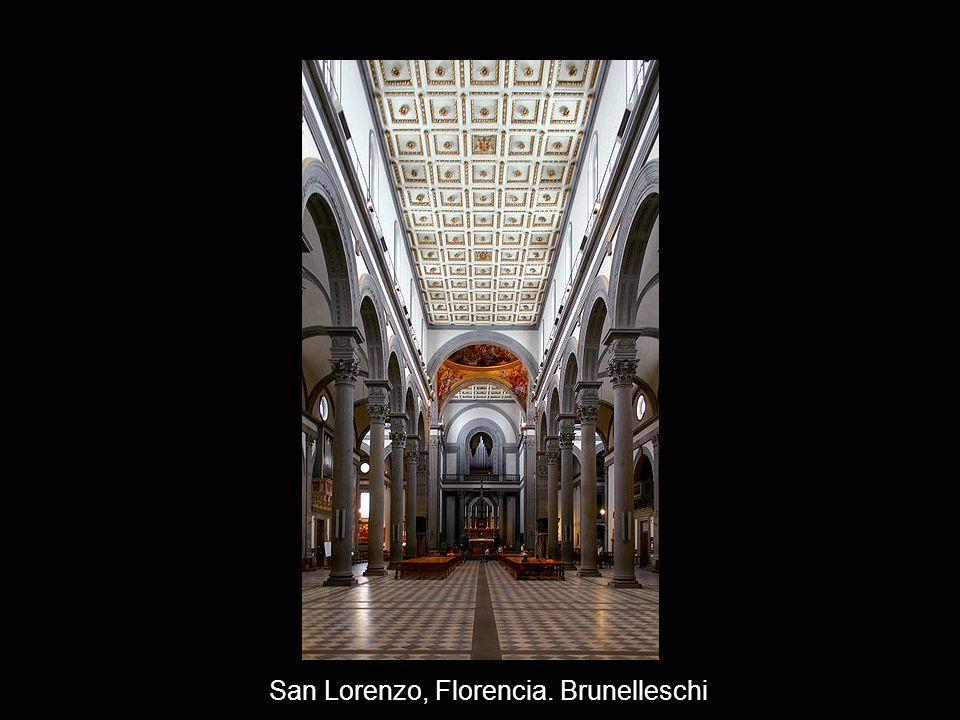 San Lorenzo, Florencia. Brunelleschi