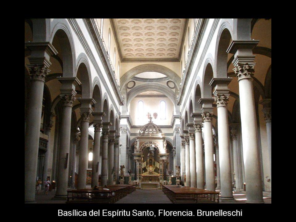 Basílica del Espíritu Santo, Florencia. Brunelleschi