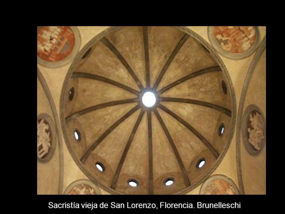 Sacristía vieja de San Lorenzo, Florencia. Brunelleschi