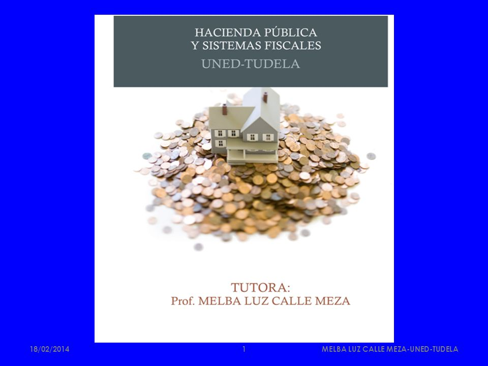 LECCIÓN 9 LA IMPOSICIÓN AL CONSUMO 18/02/2014MELBA LUZ CALLE MEZA-UNED-TUDELA2