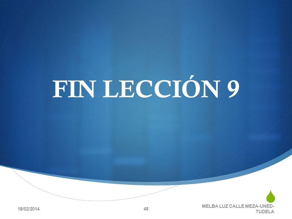 FIN LECCIÓN 9 18/02/2014 MELBA LUZ CALLE MEZA-UNED- TUDELA 45