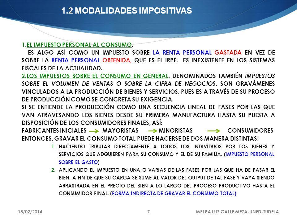 LA SEGUNDA MANERA -INDIRECTA- DE LA IMPOSICIÓN AL CONSUMO PRESENTA TRES VARIANTES: 1.IMPUESTOS MONOFÁSICOS SOBRE LAS VENTAS, 1.GRAVAN UNA ÚNICA VEZ, O EN UN ÚNICO PUNTO, EL PROCESO DE PRODUCCIÓN Y DISTRIBUCIÓN DE BIENES Y SERVICIOS.