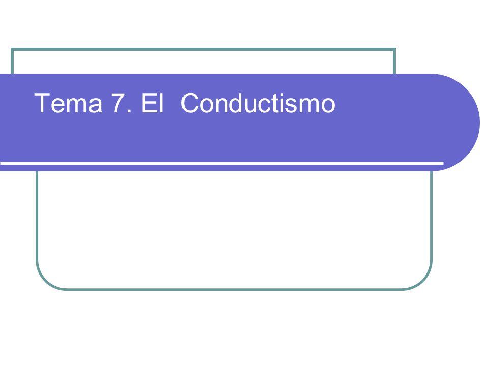 1.¿Cómo surge la psicología conductista.