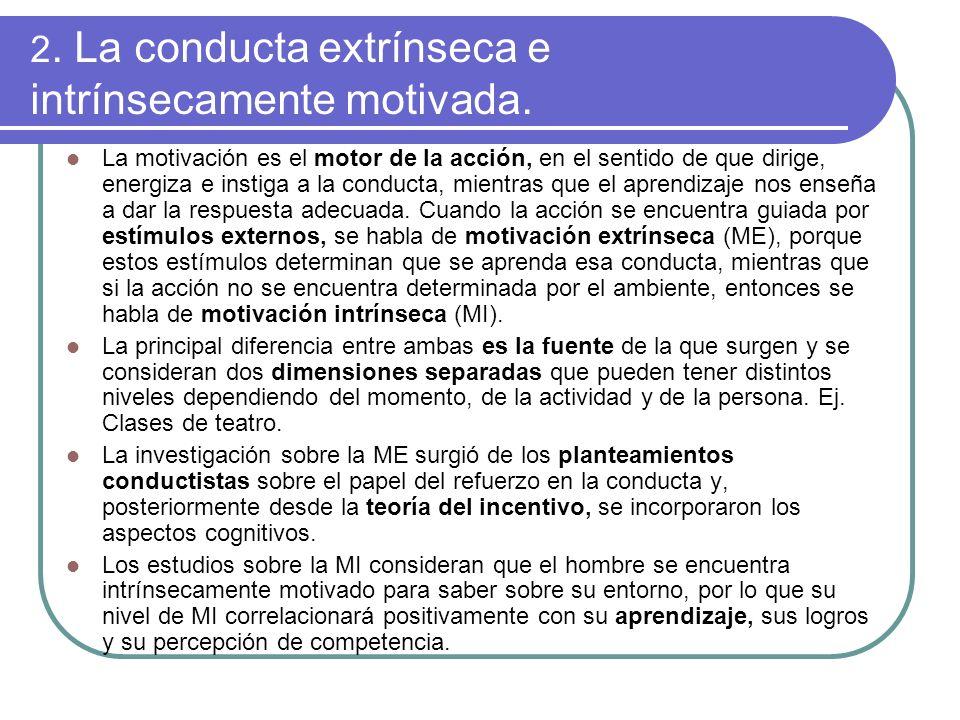4.1.3.Teoría de la evaluación cognitiva Defiende que la cognición de sentirse autónomo y competente favorece la MI, mientras que la percepción de control de la conducta por estímulos externos, la disminuye.