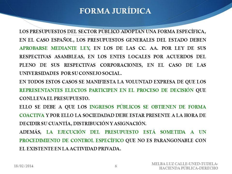 FORMA JURÍDICA LOS PRESUPUESTOS DEL SECTOR PÚBLICO ADOPTAN UNA FORMA ESPECÍFICA, EN EL CASO ESPAÑOL, LOS PRESUPUESTOS GENERALES DEL ESTADO DEBEN APROB