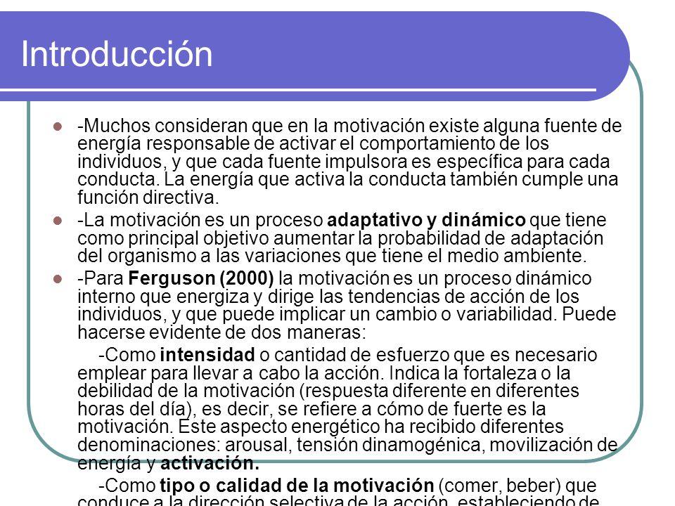 5.El proceso motivacional Diferentes consideraciones por parte de varios autores.