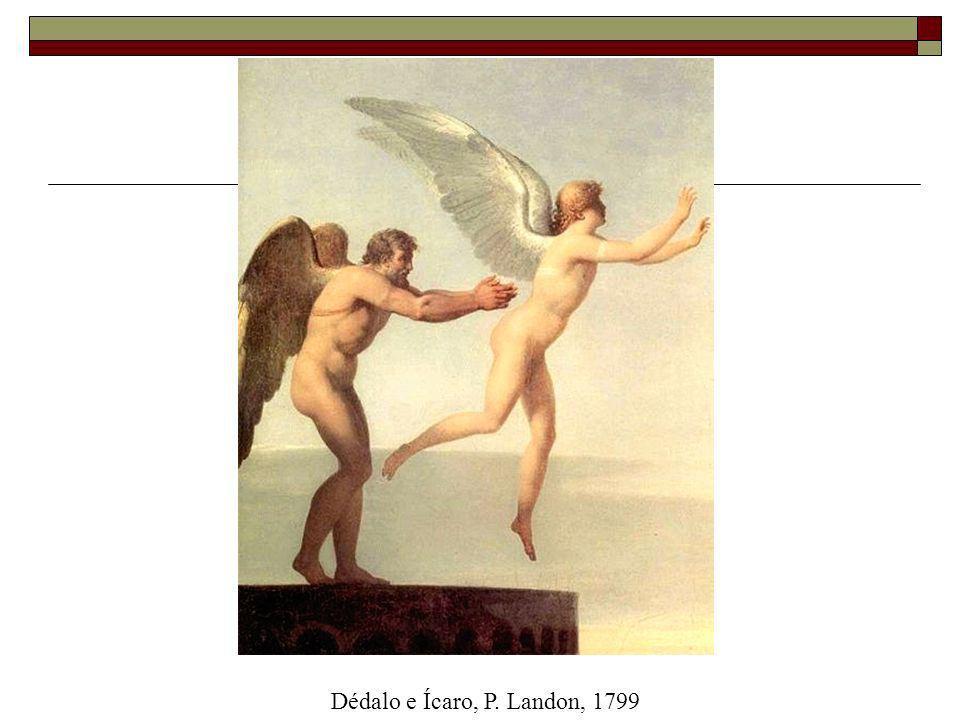 Dédalo e Ícaro, P. Landon, 1799