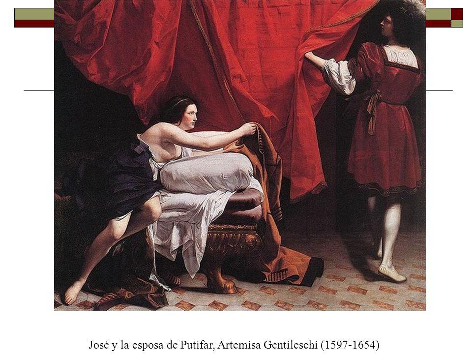 José y la esposa de Putifar, Artemisa Gentileschi (1597-1654)