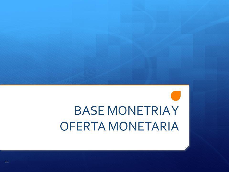 BASE MONETRIA Y OFERTA MONETARIA 21