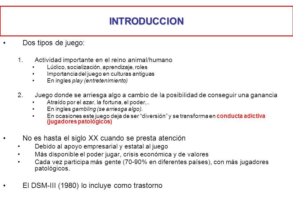INTRODUCCION Dos tipos de juego: 1.Actividad importante en el reino animal/humano Lúdico, socialización, aprendizaje, roles Importancia del juego en c