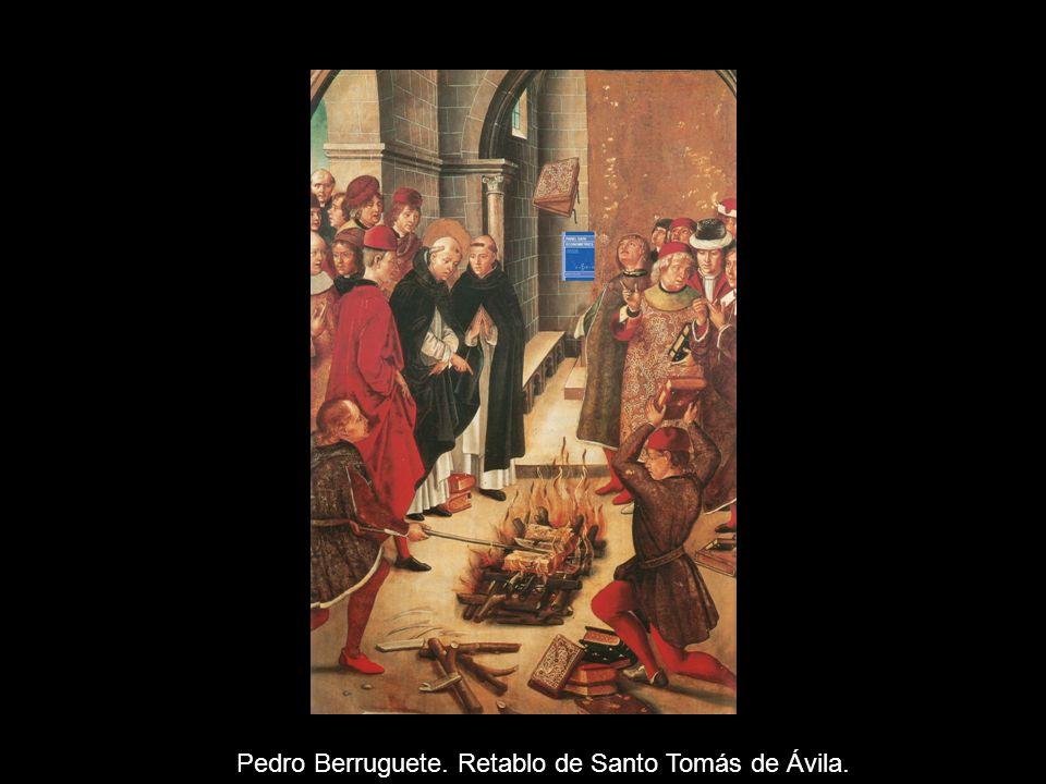 Pedro Berruguete. Federico de Montefeltro y su hijo. Galería Nacional de Urbino