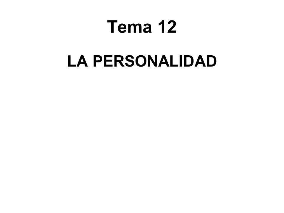 Tema 12 LA PERSONALIDAD
