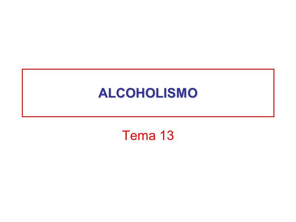 ALCOHOLISMO Tema 13
