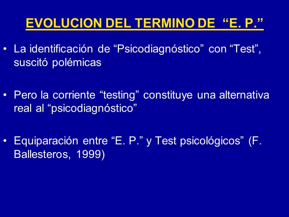 La identificación de Psicodiagnóstico con Test, suscitó polémicas Pero la corriente testing constituye una alternativa real al psicodiagnóstico Equipa