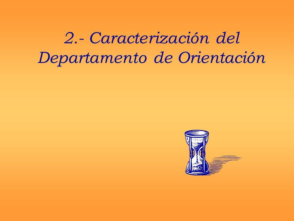 2.- Caracterización del Departamento de Orientación
