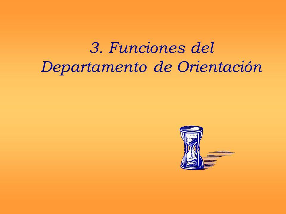 3. Funciones del Departamento de Orientación