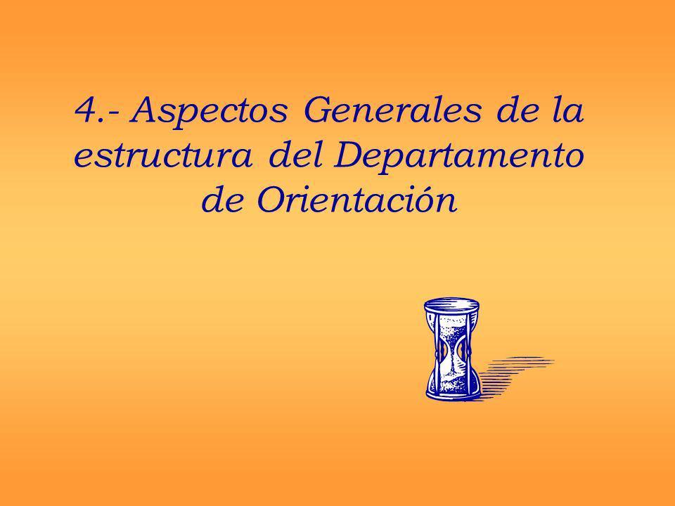 4.- Aspectos Generales de la estructura del Departamento de Orientación