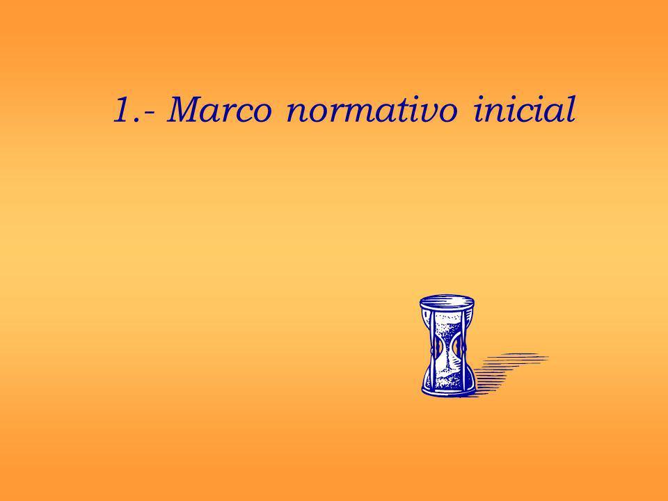 1.- Marco normativo inicial