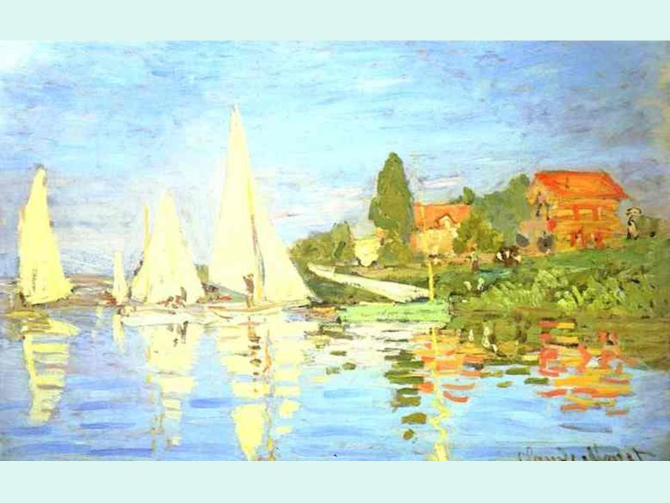 Impresionismo. Monet. Regata en Argenteuil