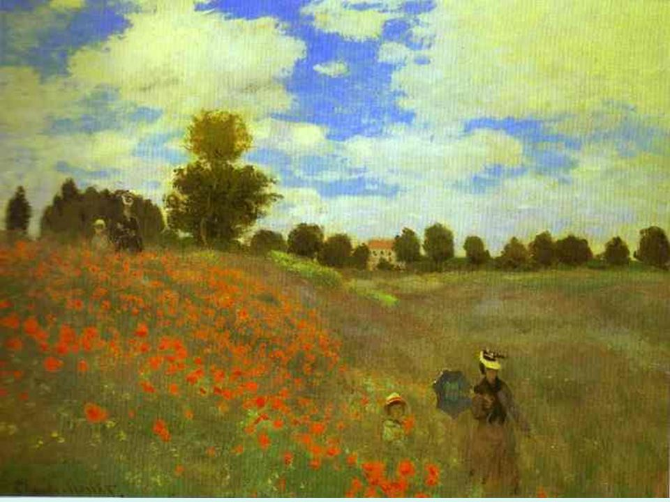 Impresionismo. Monet. Campo de amapolas