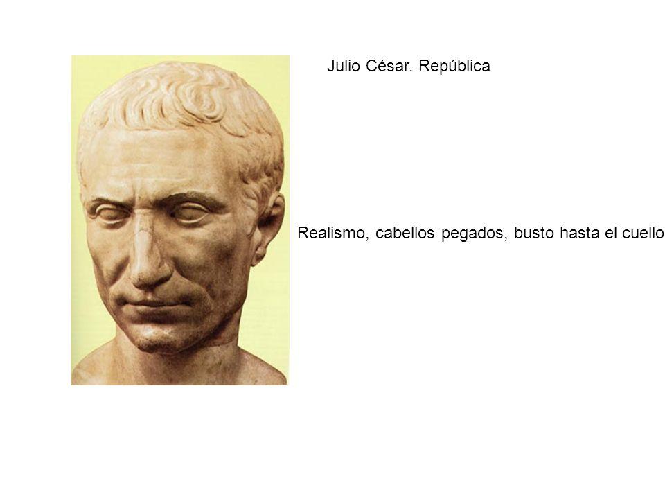 Julio César. República Realismo, cabellos pegados, busto hasta el cuello