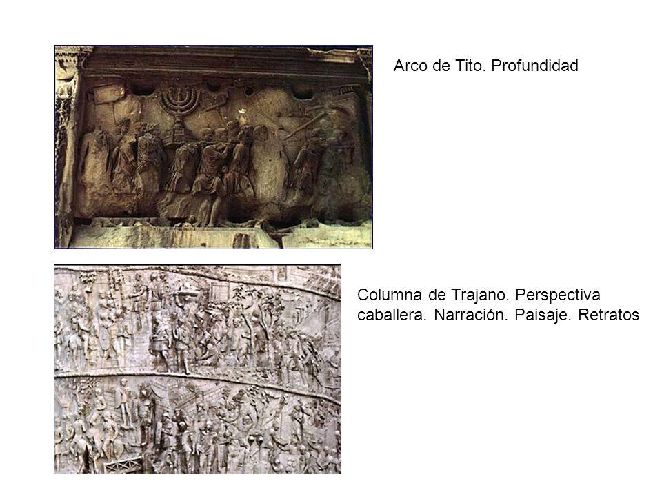 Arco de Tito. Profundidad Columna de Trajano. Perspectiva caballera. Narración. Paisaje. Retratos