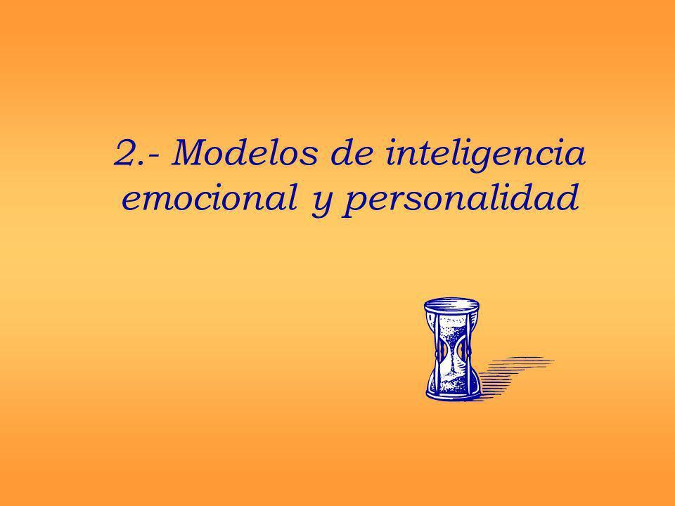 2.- Modelos de inteligencia emocional y personalidad