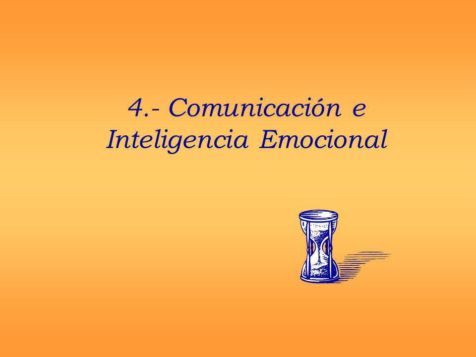 4.- Comunicación e Inteligencia Emocional