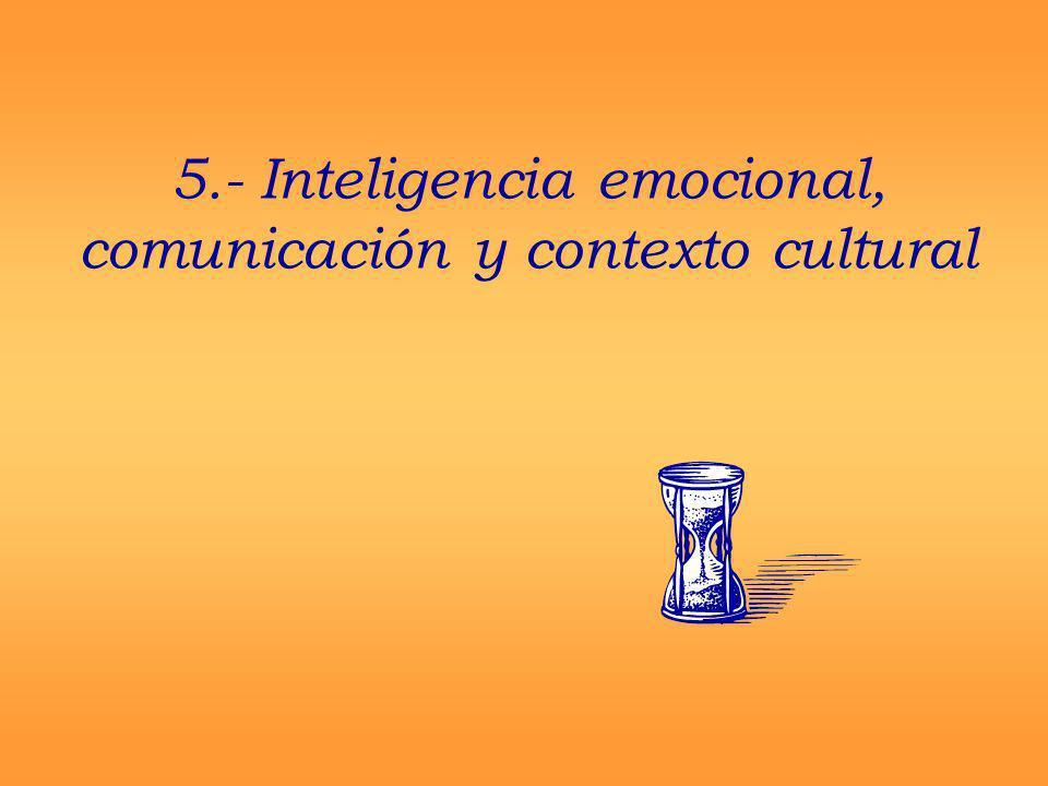 5.- Inteligencia emocional, comunicación y contexto cultural