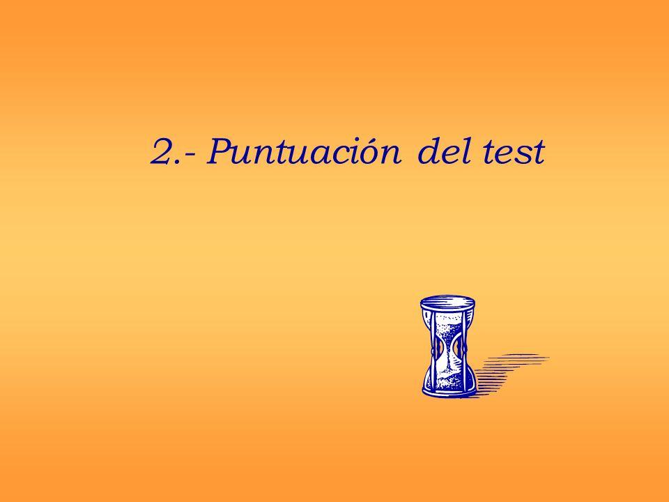 La PUNTUACIÓN DEL TEST hace referencia a: La estimación del nivel real en que el sujeto posee la característica o rasgo evaluado con la prueba.