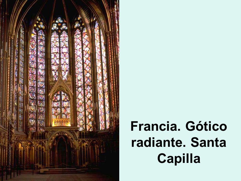 Francia. Gótico radiante. Santa Capilla