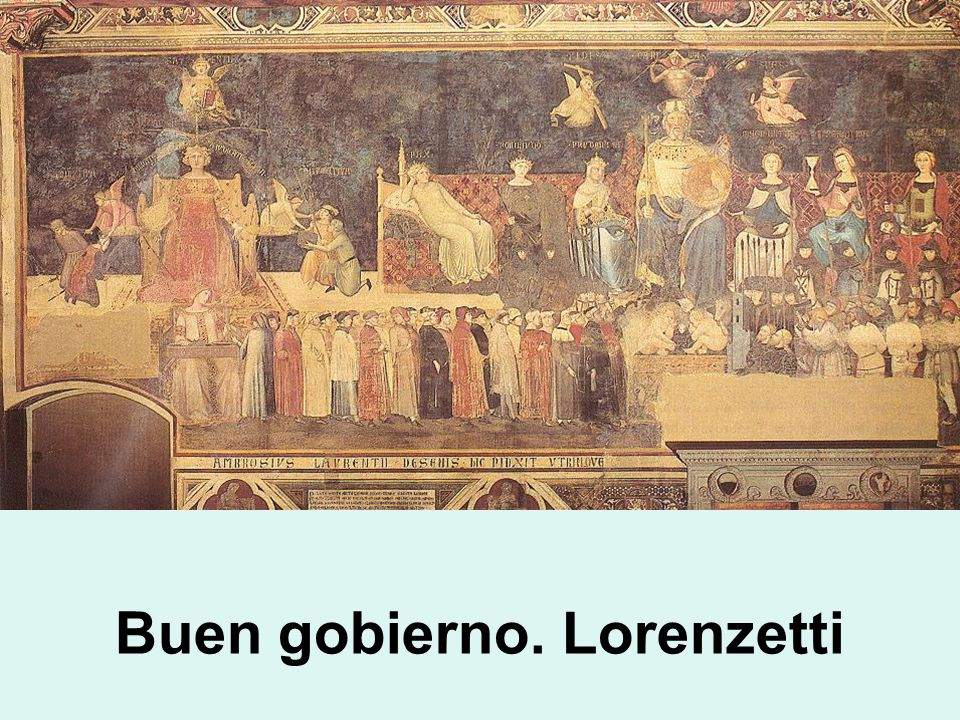 Buen gobierno. Lorenzetti