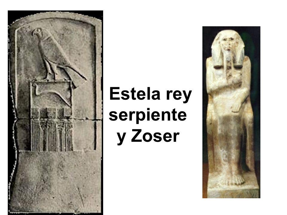 Estela rey serpiente y Zoser