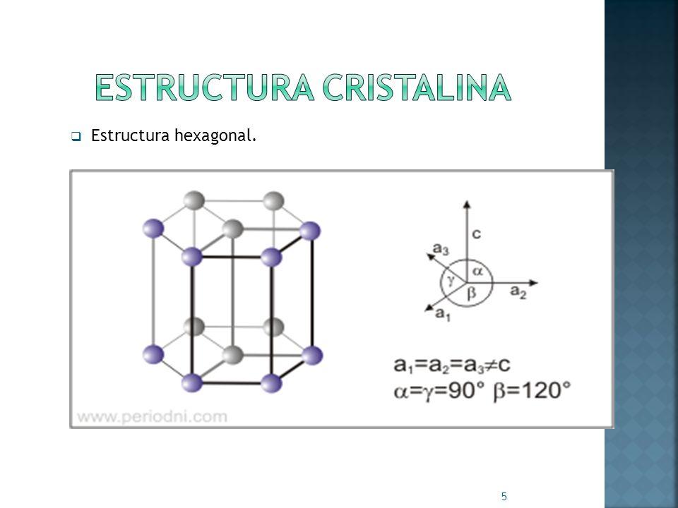 Estructura hexagonal. 5