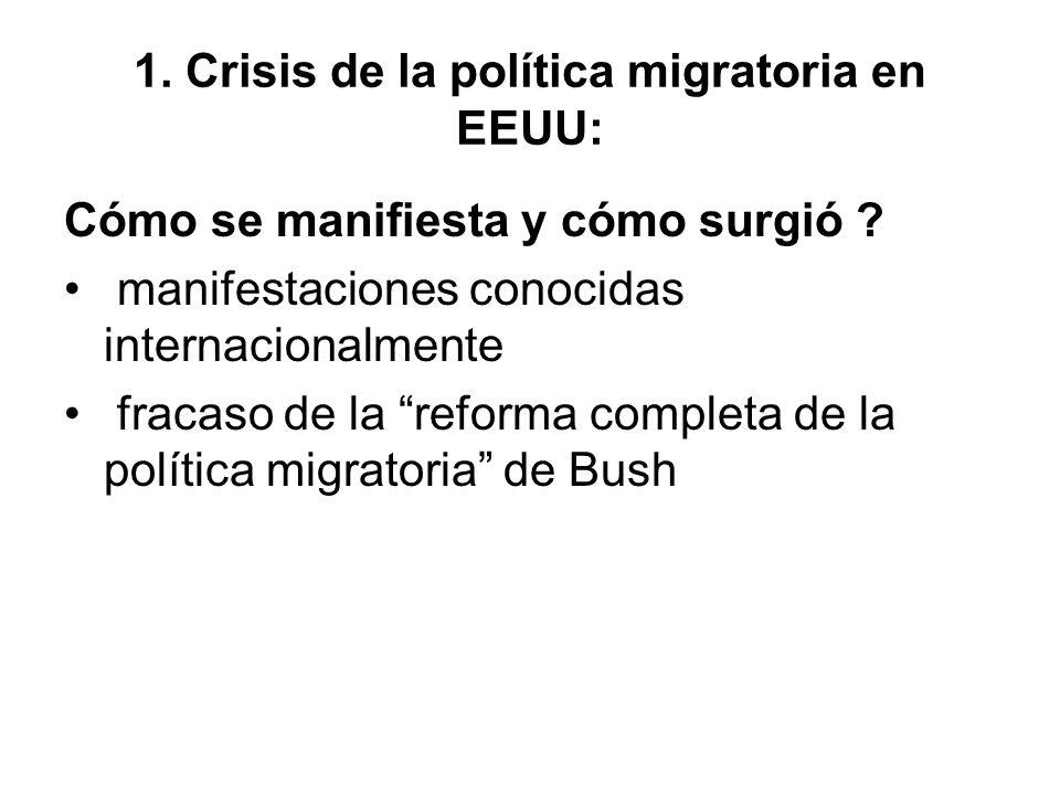 1. Crisis de la política migratoria en EEUU: Cómo se manifiesta y cómo surgió .