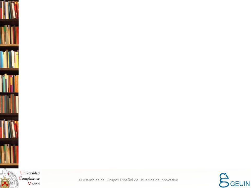 XI Asamblea del Grupos Español de Usuarios de Innovative