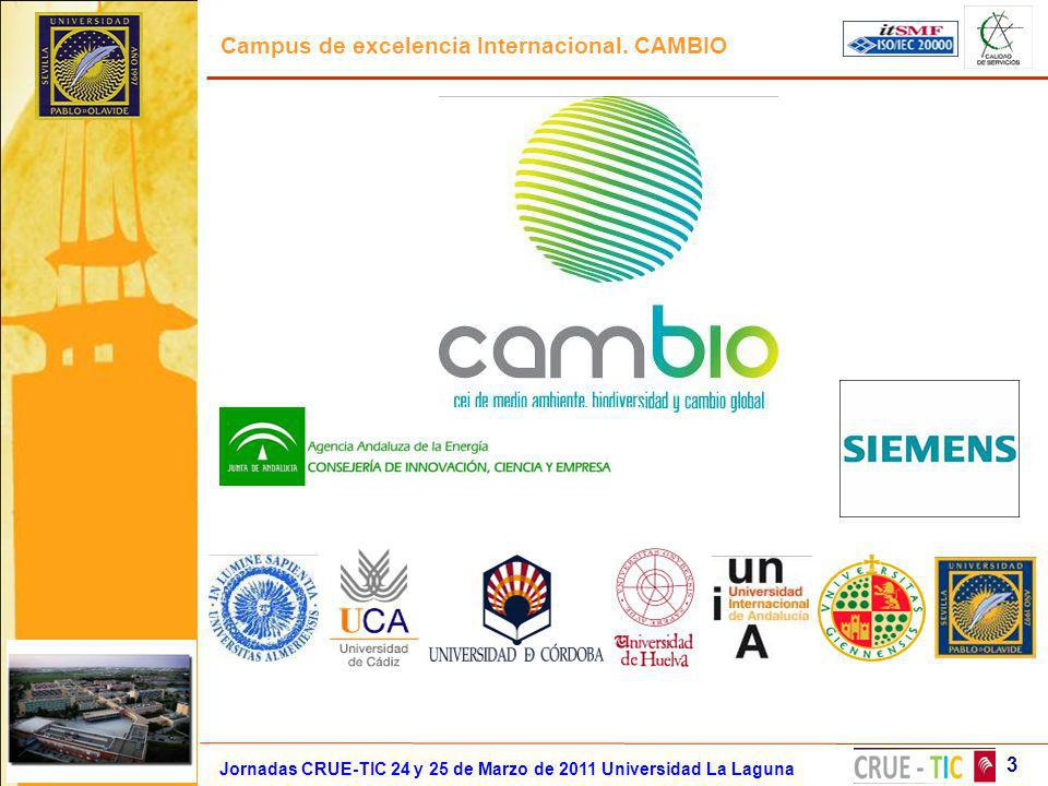 Campus de excelencia Internacional. CAMBIO Jornadas CRUE-TIC 24 y 25 de Marzo de 2011 Universidad La Laguna 3