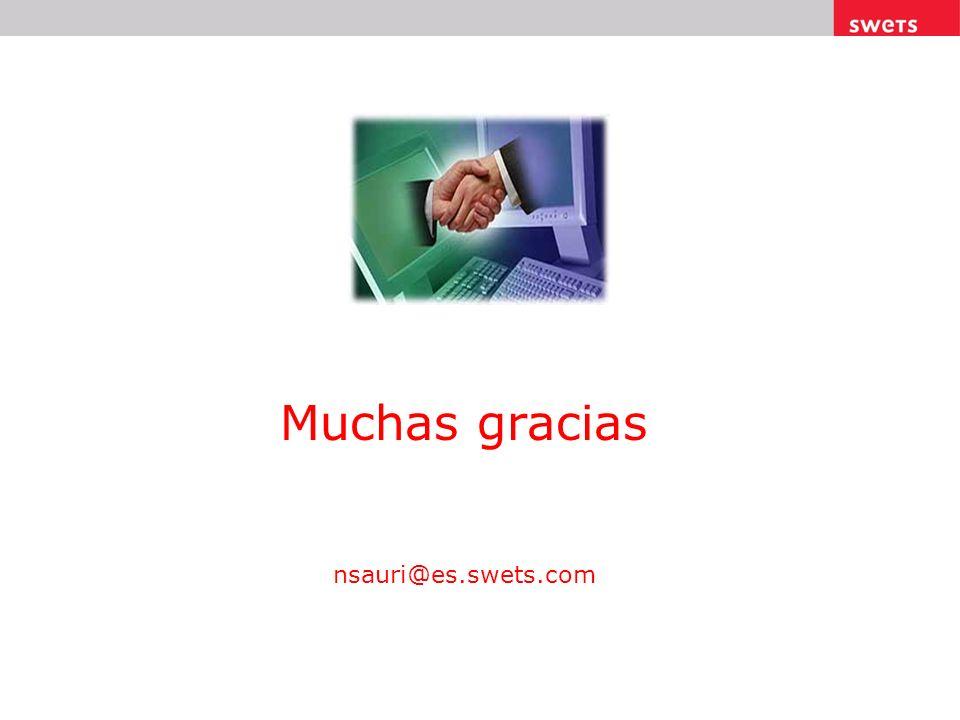 Muchas gracias nsauri@es.swets.com