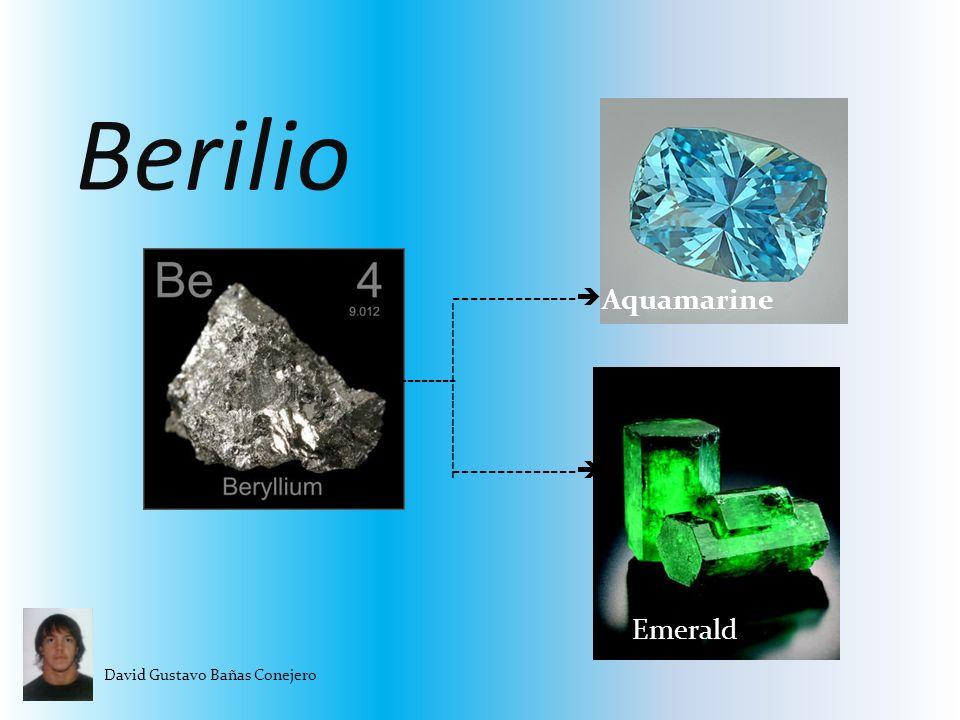 Berilio David Gustavo Bañas Conejero -------------- -------------------- -------- Aquamarine Emerald