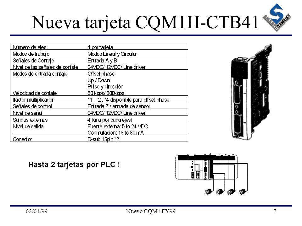 03/01/99Nuevo CQM1 FY997 Nueva tarjeta CQM1H-CTB41 Hasta 2 tarjetas por PLC !