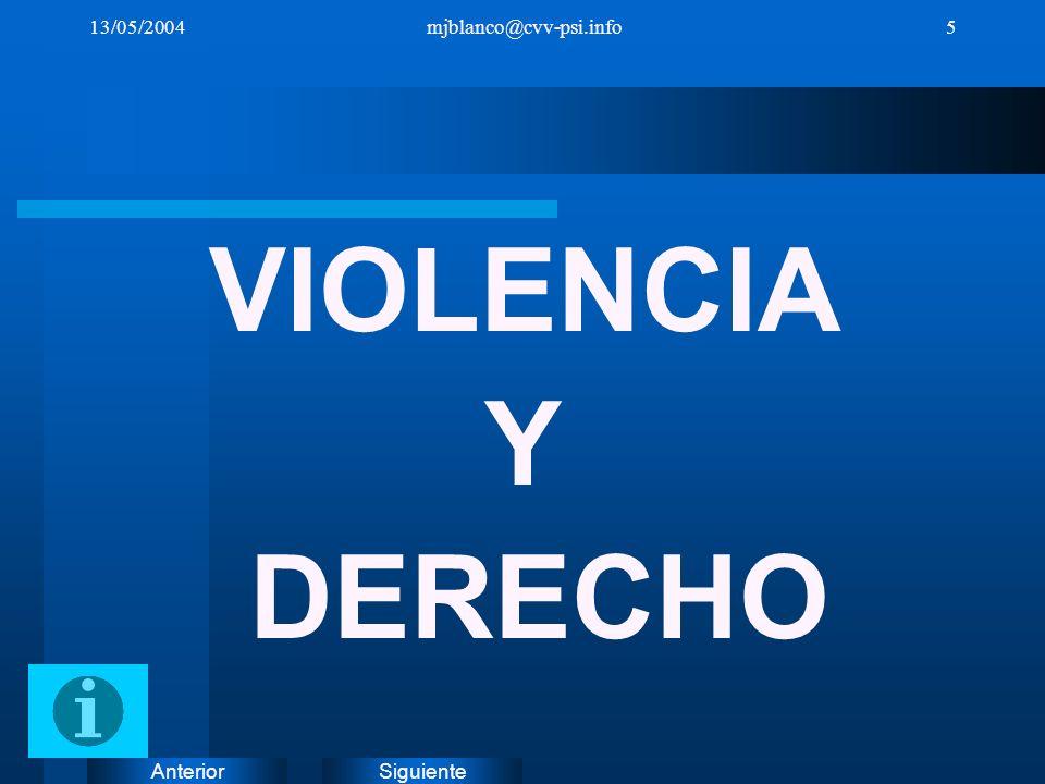 SiguienteAnterior 13/05/2004mjblanco@cvv-psi.info16 EL PROYECTO