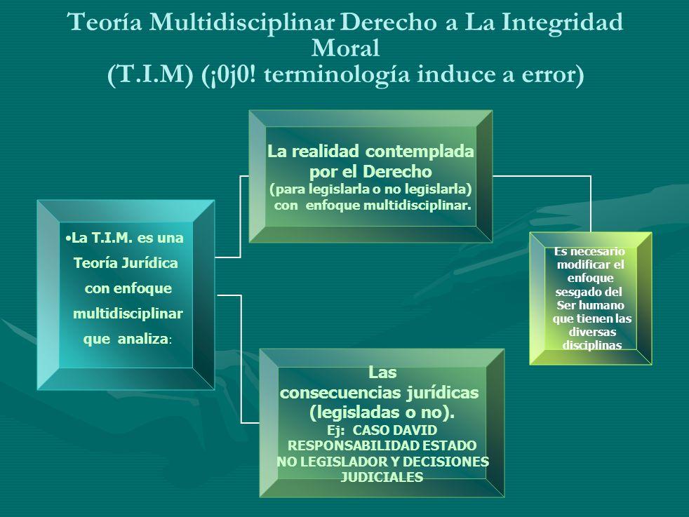 Teoría Multidisciplinar Derecho a La Integridad Moral (T.I.M) (¡0j0.