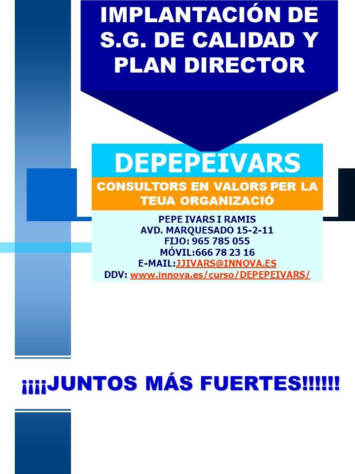 VM-PIR2 CALIDAD & MARKETING & RECURSOS HUMANOS & ECONÓMICO - FINANCIERO & FORMACIÓN & SUBVENCIONES & GESTIÓN DE EMPRESAS & OTROS ( SEGÚN NECESIDADES) PLAN DIRECTOR +++