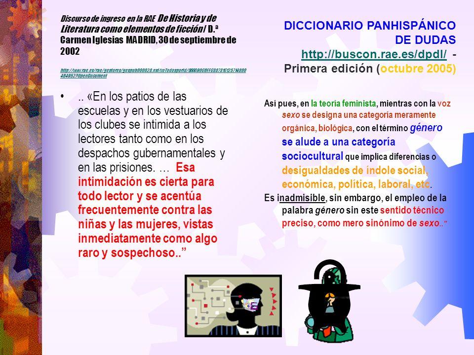 Discurso de ingreso en la RAE: genética y Lenguaje / D.ª Margarita Salas Falgueras MADRID, 4 de junio de 2003 http://www.rae.es/rae/gestores/gespub000028.nsf/voTodosporId/ 0AAA90C6EEC38731C125714800464952 OpenDocument http://www.rae.es/rae/gestores/gespub000028.nsf/voTodosporId/ 0AAA90C6EEC38731C125714800464952 OpenDocument El progreso de la comprensión del lenguaje es importante para el avance del conocimiento básico … Sin embargo, la asombrosa proeza del lenguaje es demasiado compleja para ser comprendida con las herramientas de una única especialidad académica o médica.