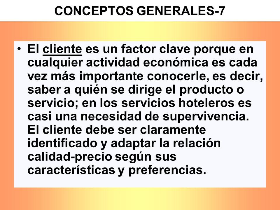 El cliente es un factor clave porque en cualquier actividad económica es cada vez más importante conocerle, es decir, saber a quién se dirige el produ